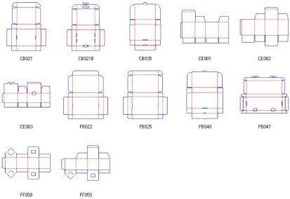 Corrugated And Folding Carton Box Templates Box Template Packaging Template Cupcake Boxes Template