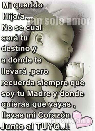 Llevame Siempre En Tu Corazón Mother Poems Love My Boys Spanish Quotes
