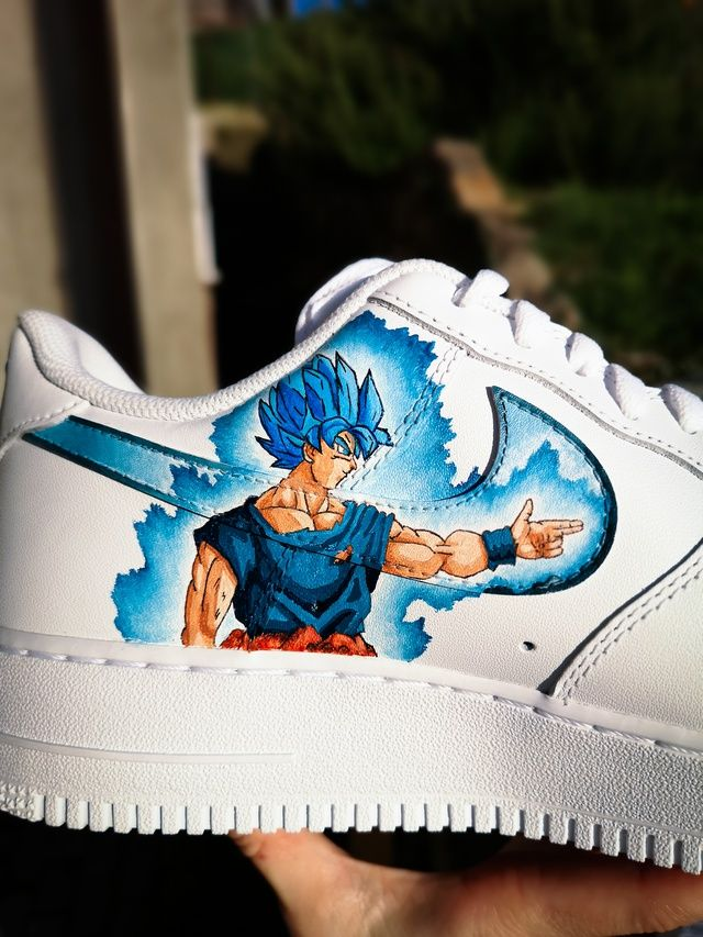 Custom Nike Air Forse ''Goku vs Vegeta'' | Nike air