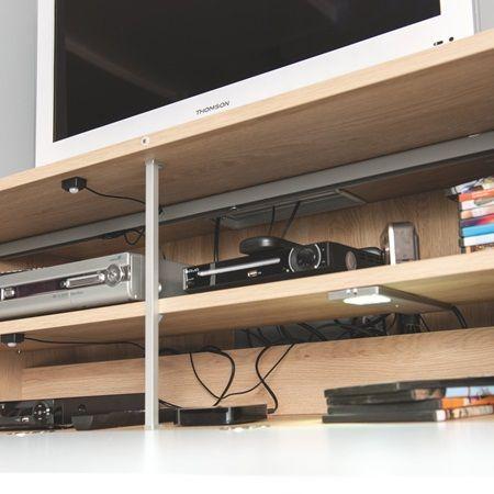 En Option Un Systeme De Telecommande Deportee Qui Vous Permet De Zapper En Laissant La Porte Fermee Meuble Tv Angle Meuble Tv Hifi Meuble Tv