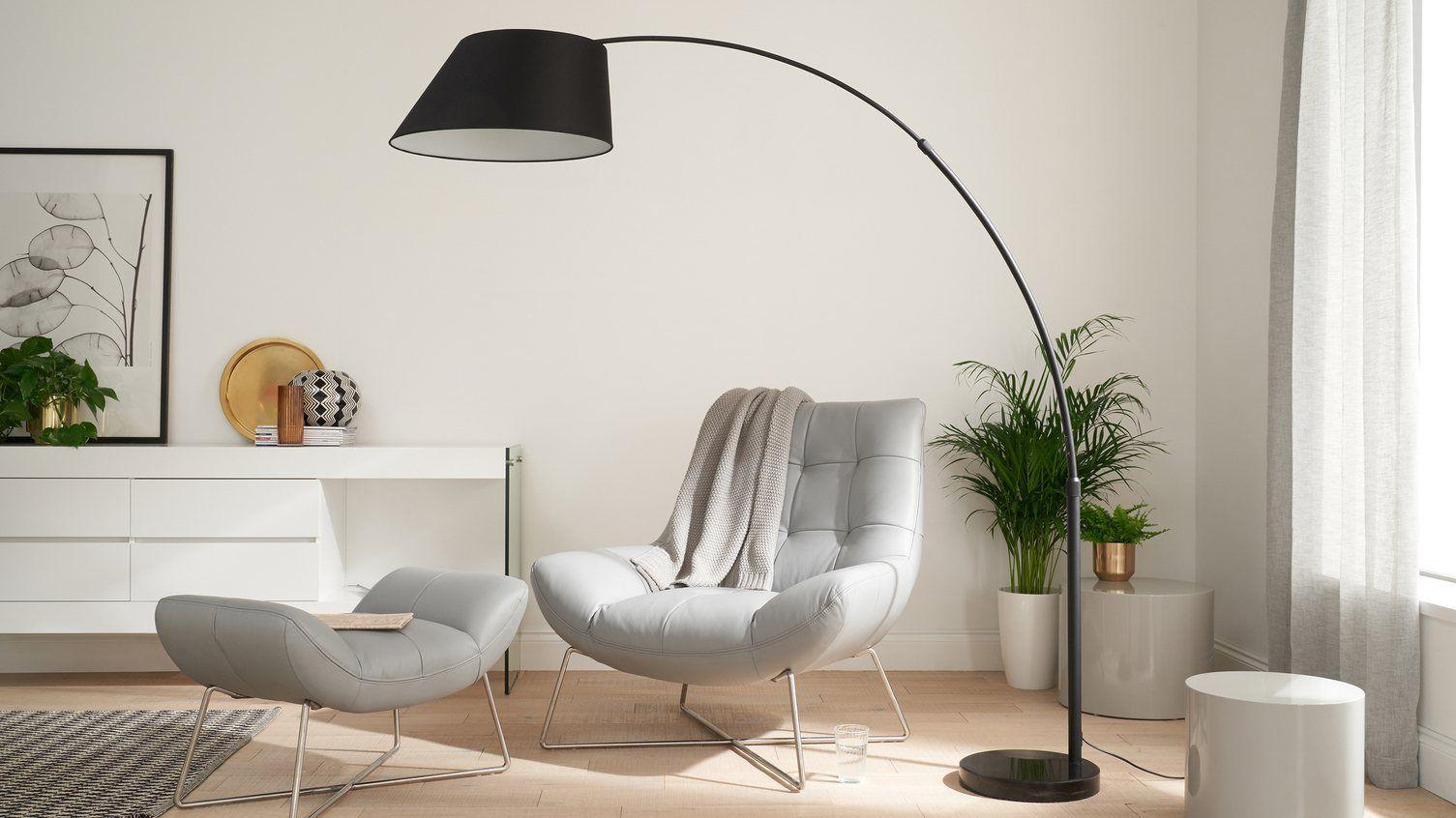 Evey Black Marble Base Floor Lamp Arc lamp living room