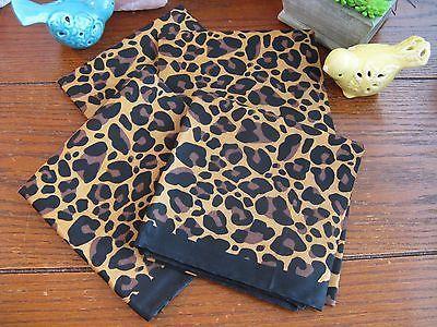 New Snazzy Leopard Animal Print Pattern Cotton Cloth Napkins Set Of 4