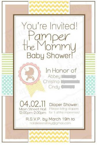 Real Shower: Pamper the Expected Mommy Spa Shower! | Baby ...