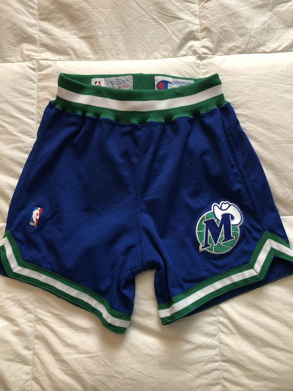 Dallas Mavericks Mens Shorts NWT Vintage Black Basketball Game Stitched S-XXL
