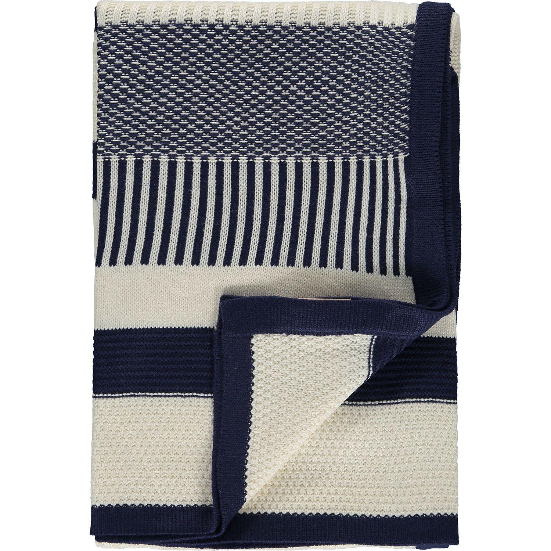 Kenar Home Navy Cream Stripe Throw Tk Maxx Nursery Navy