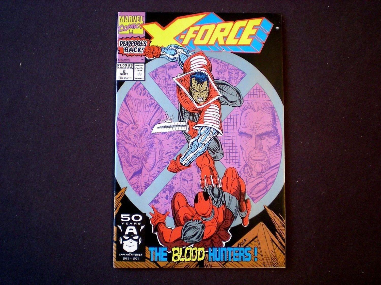 X-Force 2, (1991), 2nd App Deadpool, Weapon X App, Deadpool card, Marvel Comics XZ by HeroesRealm on Etsy