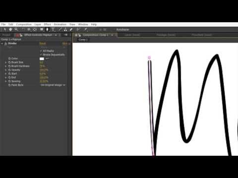 Creating a Whiteboard Effect With After Effects Part 1 - YouTube
