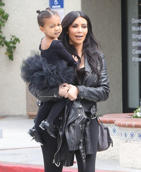 May 21, 2015 - Kim Kardashian & North West leaving Miss Melodee Dance Studio in Woodland Hills.