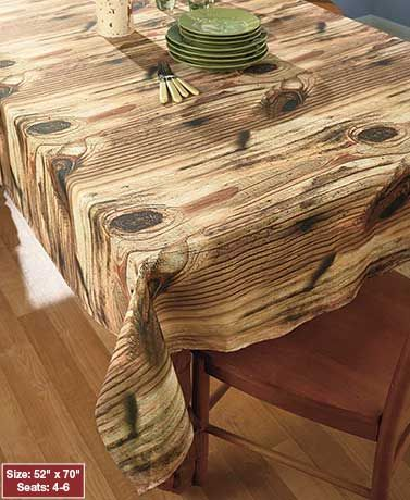 Photo Real Wood Look Tablecloths