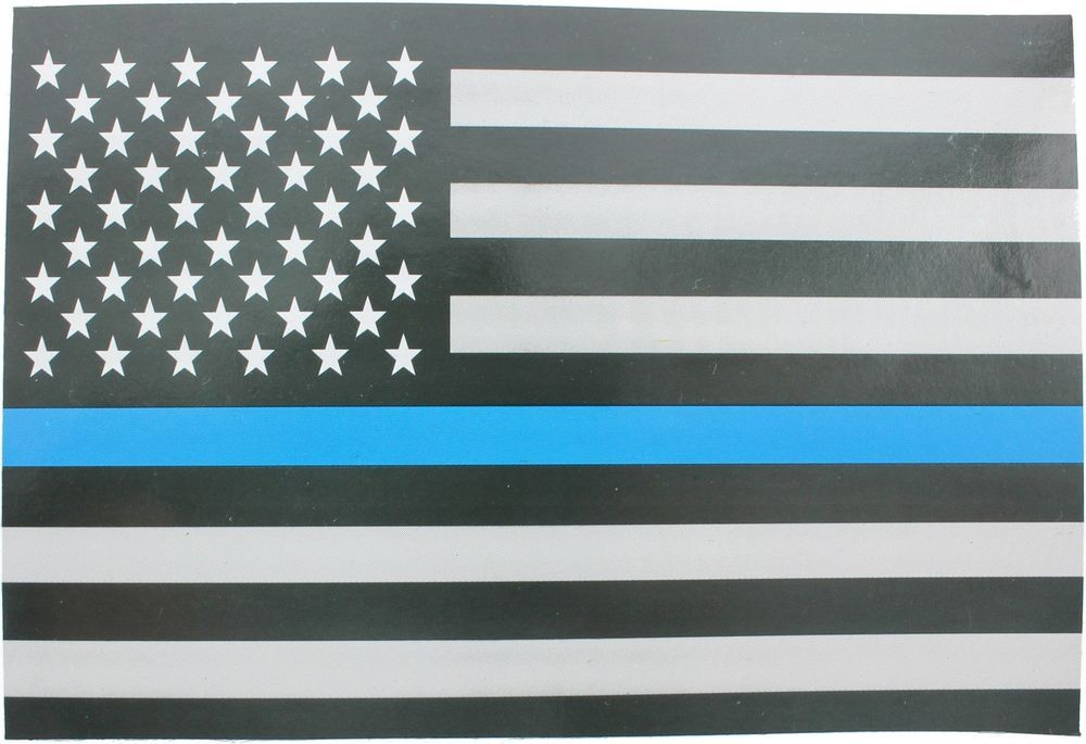 10-Pack Thin Blue Line Support The Police Subdued American Flag Sticker  5