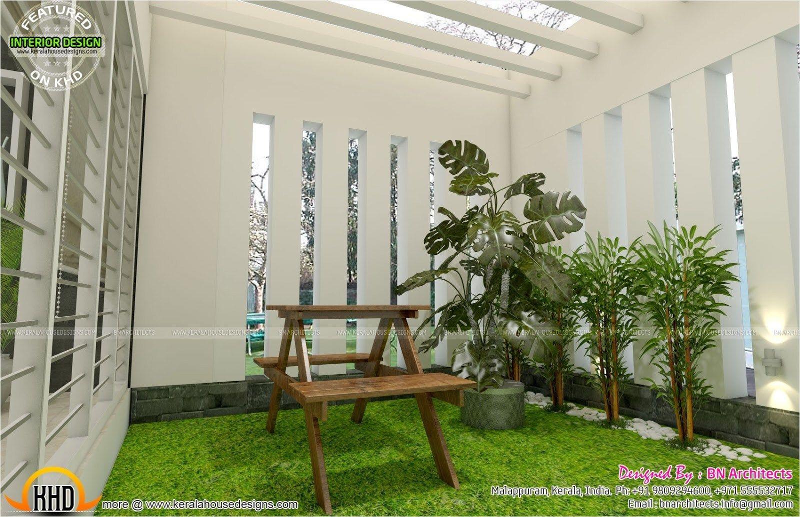 Stunning Courtyard Interior Wall Decorating Ideas Decorecord Kerala House Design House Front Design Courtyard House