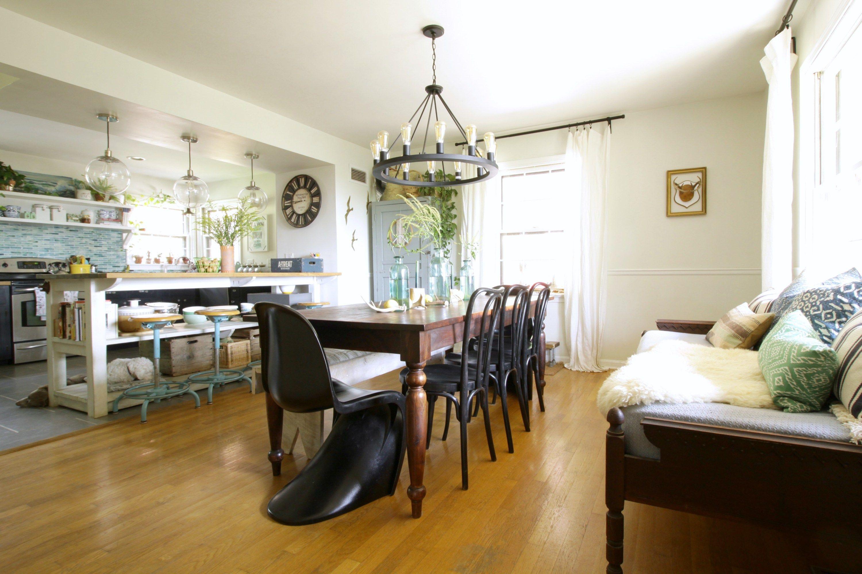 Modern Farmhouse Dining Room Eclectic Boho