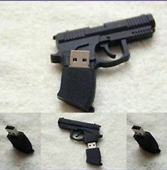 Introducing SandiosTM  High QualityData Travel Special Design Cute Lovely Cartoon gun model 8GB Shape Portable USB 20 Speed Flash Disk memory stick pen Thumb Storage Drive. Great product and follow us for more updates!