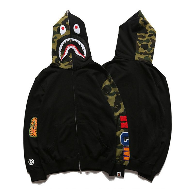 57ff5b48cfc9 Lovers Bathing Ape Bape Shark Jaw Jacket Camo Full Zipper Hoodie Sweats  Coat  fashion  clothing  shoes  accessories  mensclothing  activewear (ebay  link)