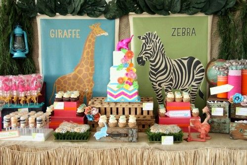 Safari Themed Table Designs For Childrens Parties