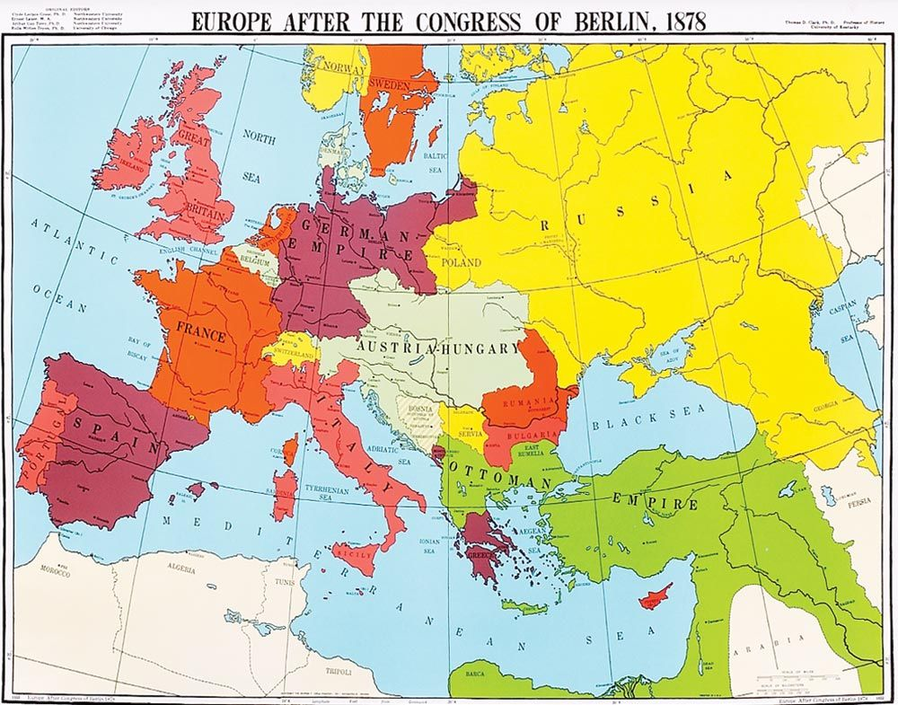 Map Of Europe 1878 After Th Congress Of Berlin Germany Map Map
