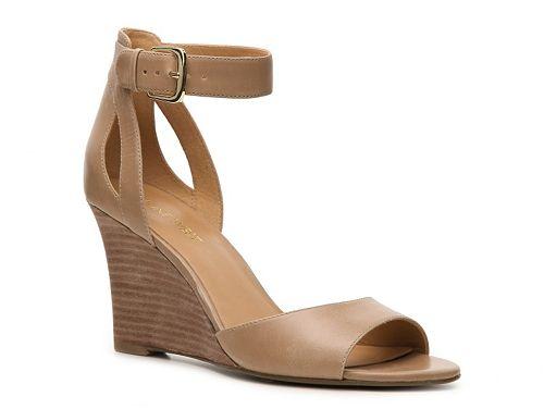8846b058233 Nine West Floyd Wedge Sandal $70 classy nude wedge for Texas | My ...