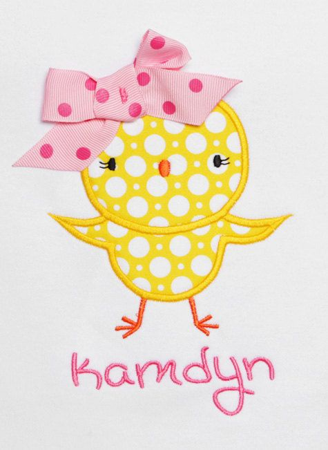 Girls Easter Chick Shirt Personalized Easter by bowdaciousbaby2, $18.00