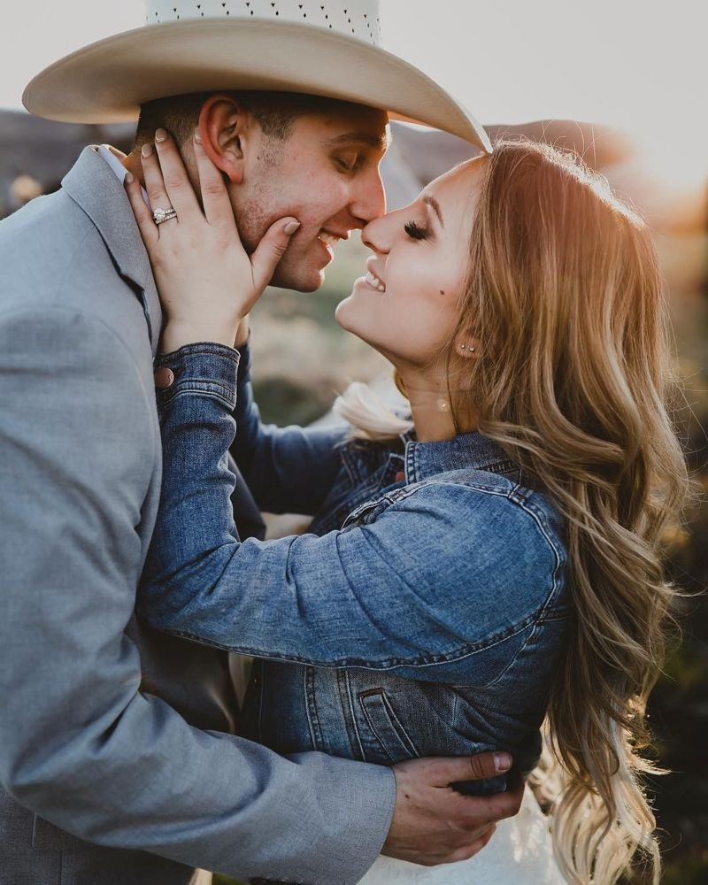 """Real Ranch Weddings On Instagram: """"The Perfect Pre-kiss"""