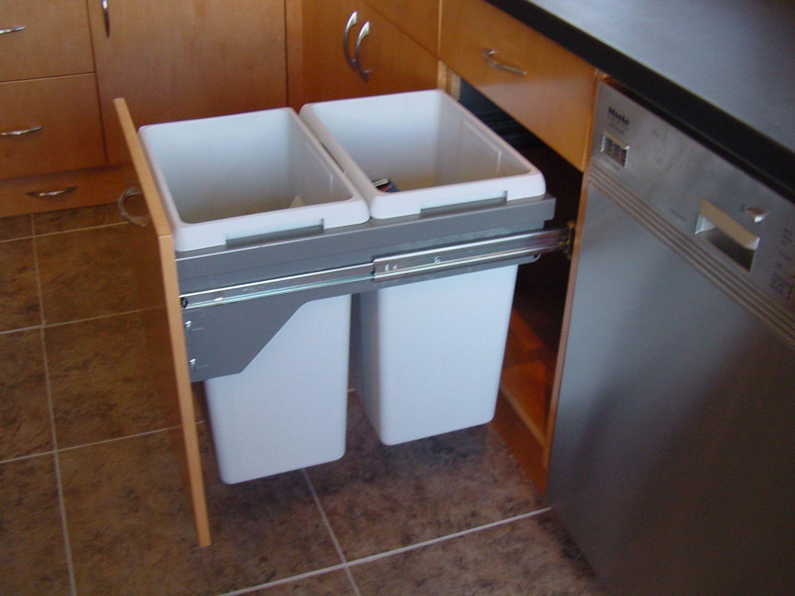 trash and compost bin kitchen drawers cabinets yahoo image