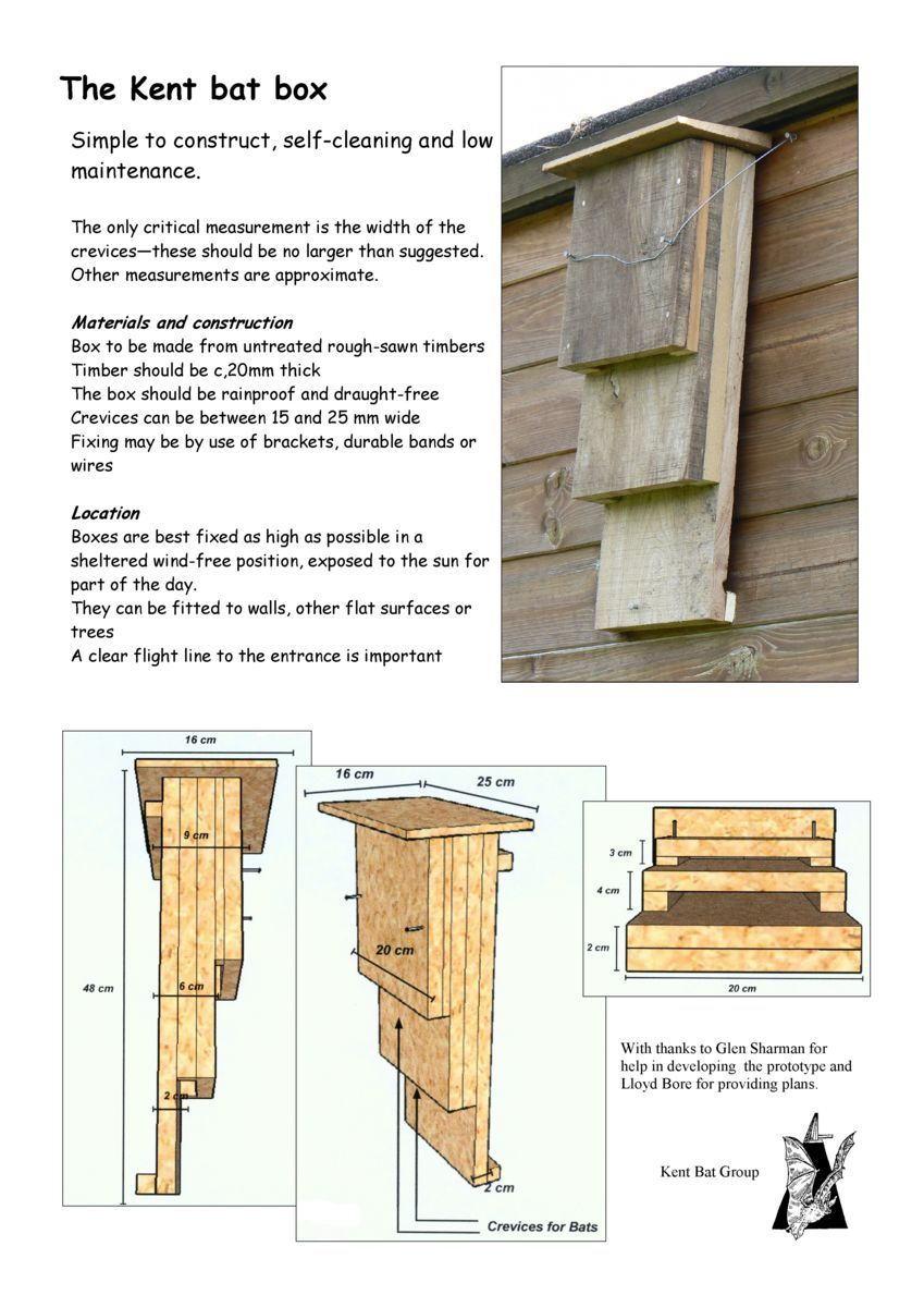 The green heart den is planning to make several bat boxes for How to make a bat house