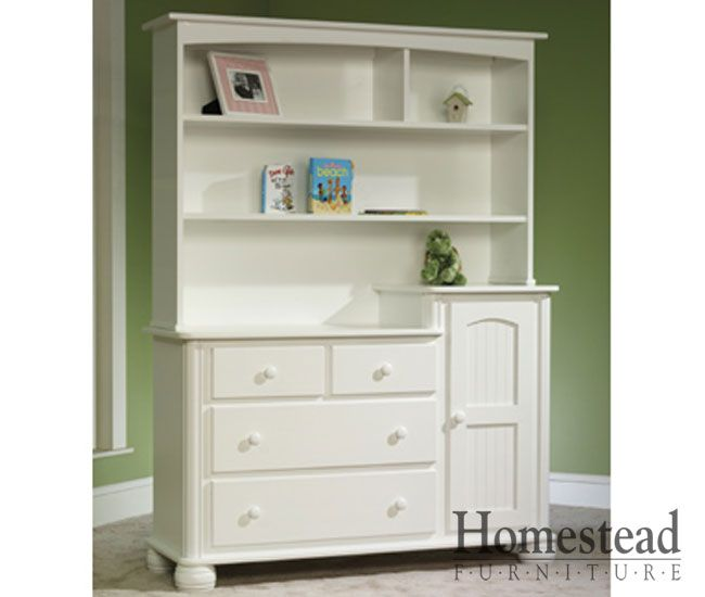The Cottage Changing Table With Hutch Features Turned Bun Feet And Clean  Lines. It Makes