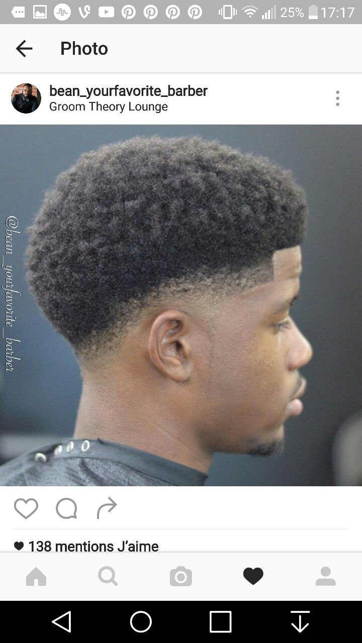 Black men blowout haircut delroy tabois delroytabois on pinterest