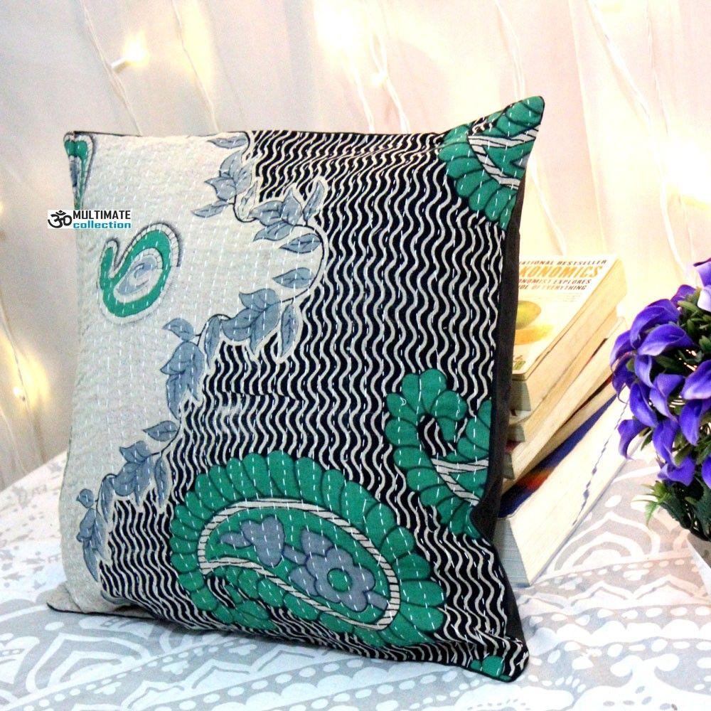 Sari kantha cushion cover model pillow cases pillows and