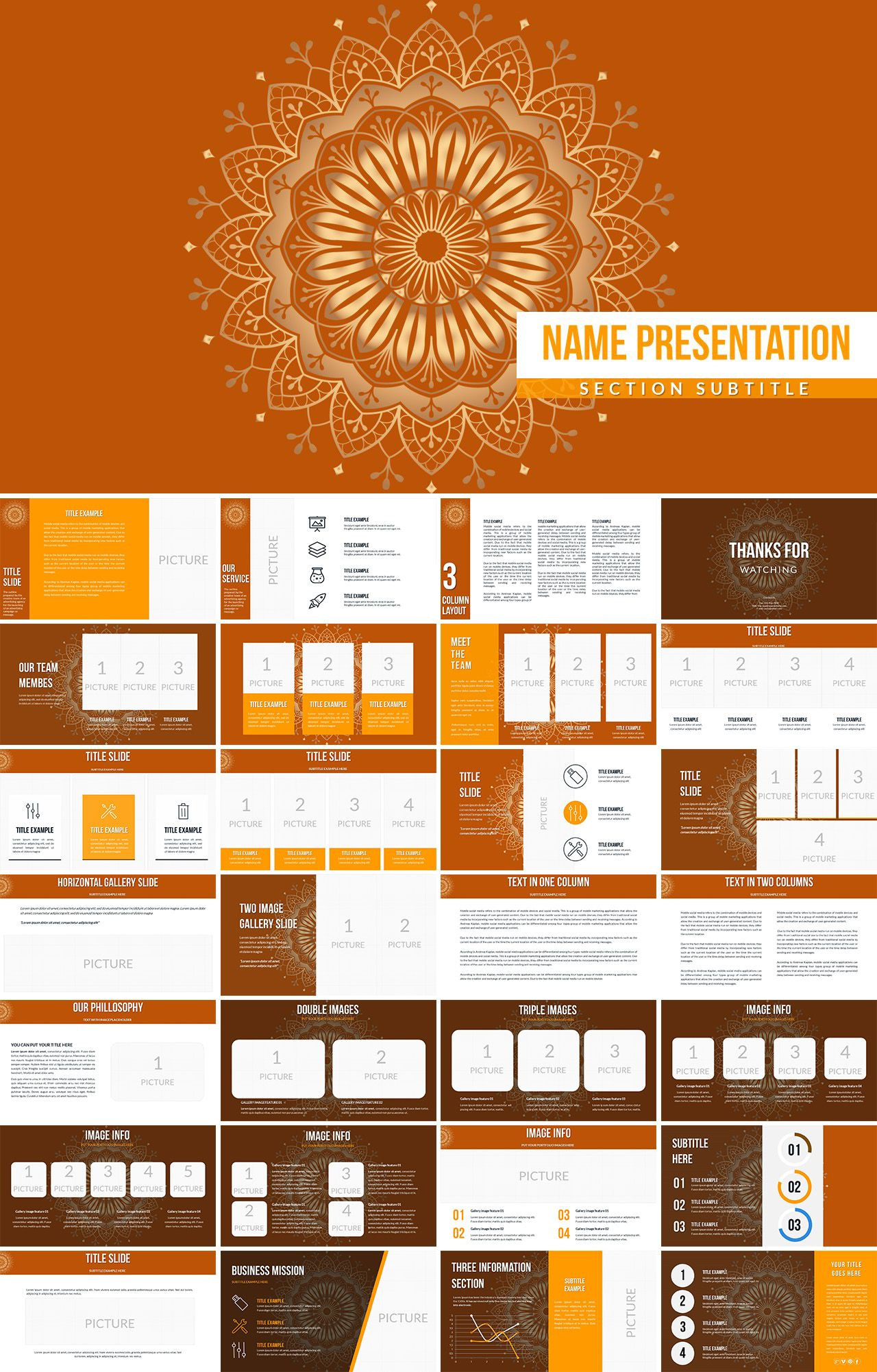 Floral Flower Powerpoint Templates Keynote Template Templates