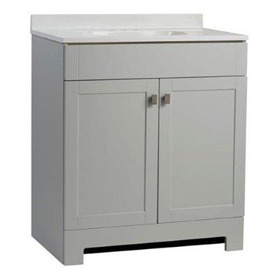 Style Selections Liesel Gray Bathroom Vanity With Cultured Marble - 36 x 19 bathroom vanity for bathroom decor ideas