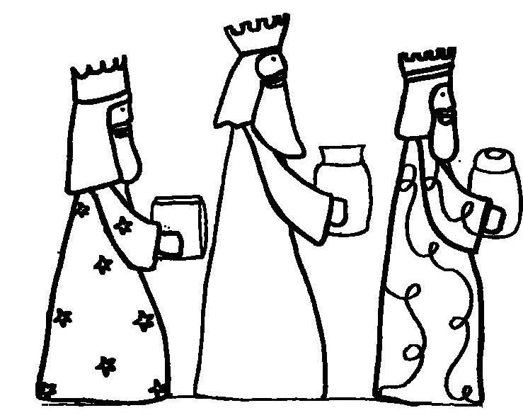 Wise Men Seeking Jesus Coloring Page