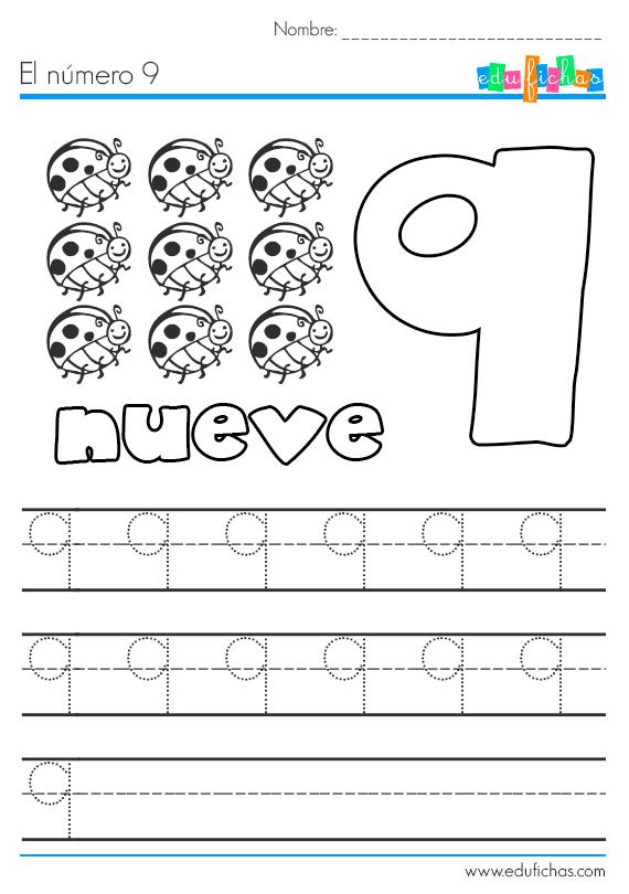 Fichas de los números... el número 9. Descarga nuestras fichas ...