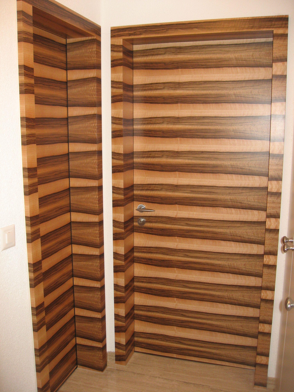 DOORS AS ART Two European Walnut doors horizontal book match I