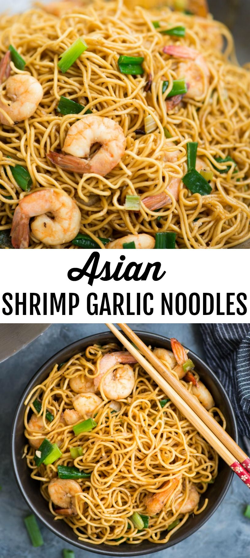 ASIAN SHRIMP GARLIC NOODLES - The flavours of kitchen