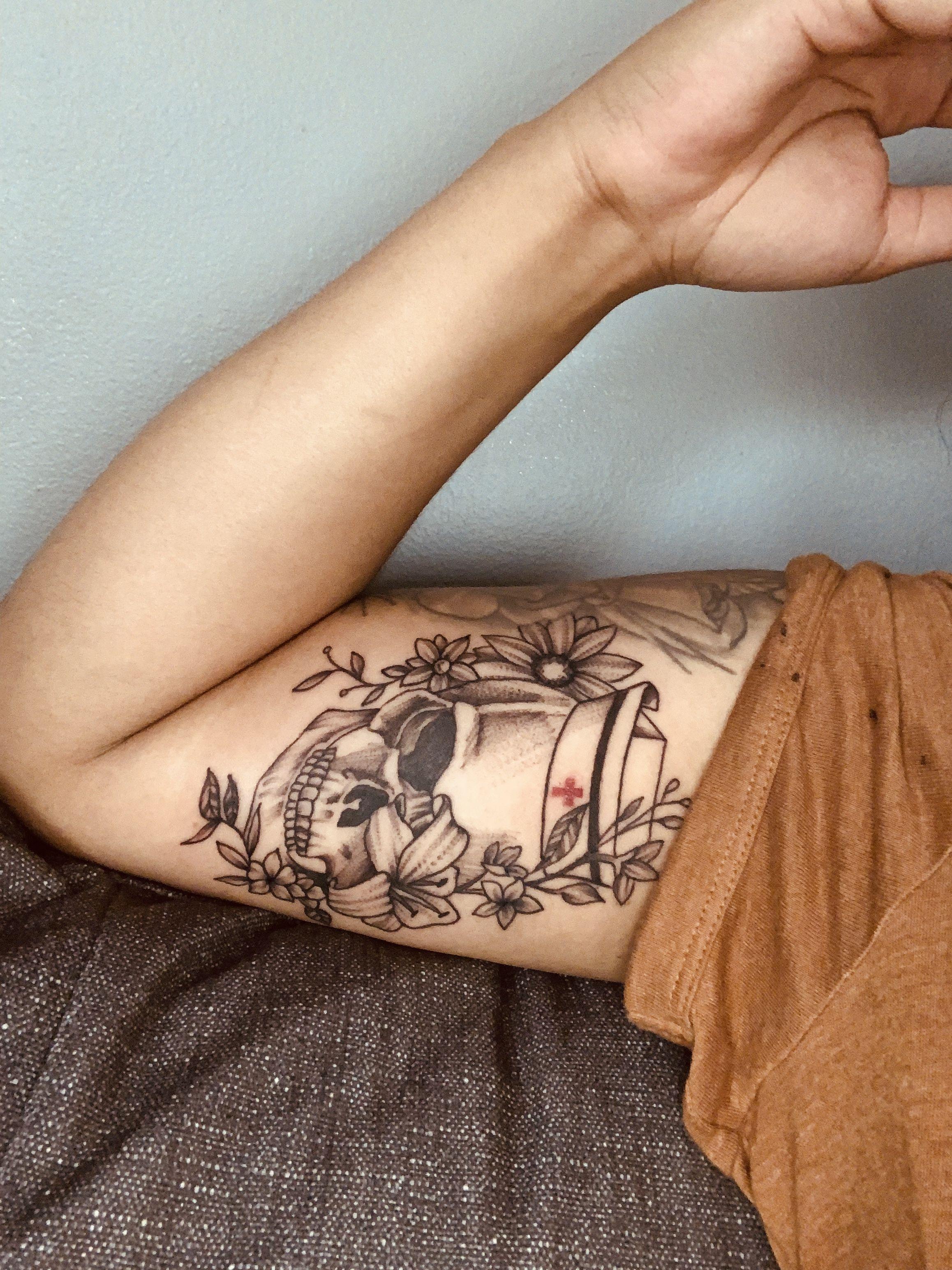 Nurse Tattoo Sleeve : nurse, tattoo, sleeve, Nurse, Tattoo, Tattoo,, Tattoos,, Sleeve, Tattoos, Women