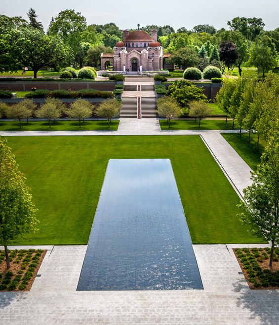 lakewood cemetery garden mausoleum minnesota usa halvorson design partnership - Garden Design Usa