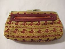 Vintage 1960's Mickey Mouse Child's Clutch Style Purse Handbag Snap Shut
