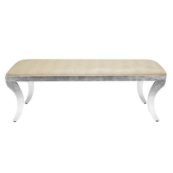 Worlds Away Griffin Bench With Images Upholstered Bench Klismos Upholstered Storage Bench