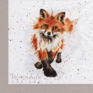 Serviette Renard Et Renardeau Aquarelle Peinture Renard Art Fox