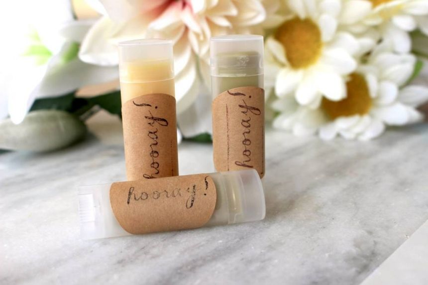 Chapstick Wedding Favors These Beeswax Wedding Favors Are Perfect