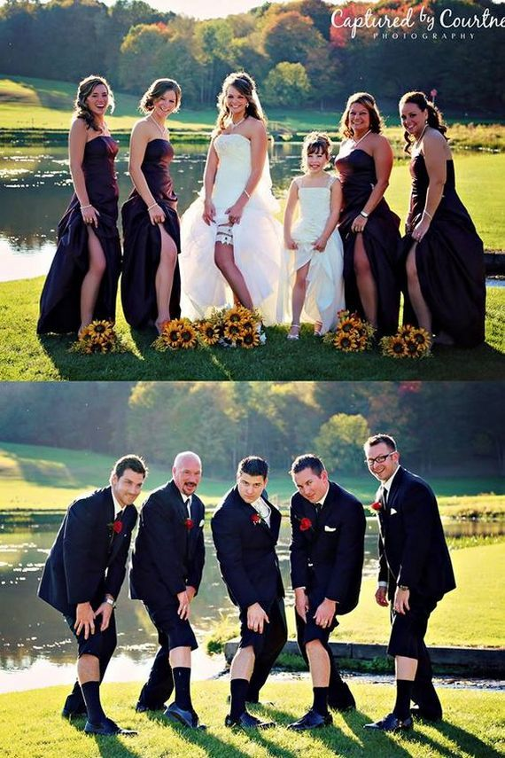 21 Creative Wedding Photo Ideas With Bridesmaids And Groomsmen