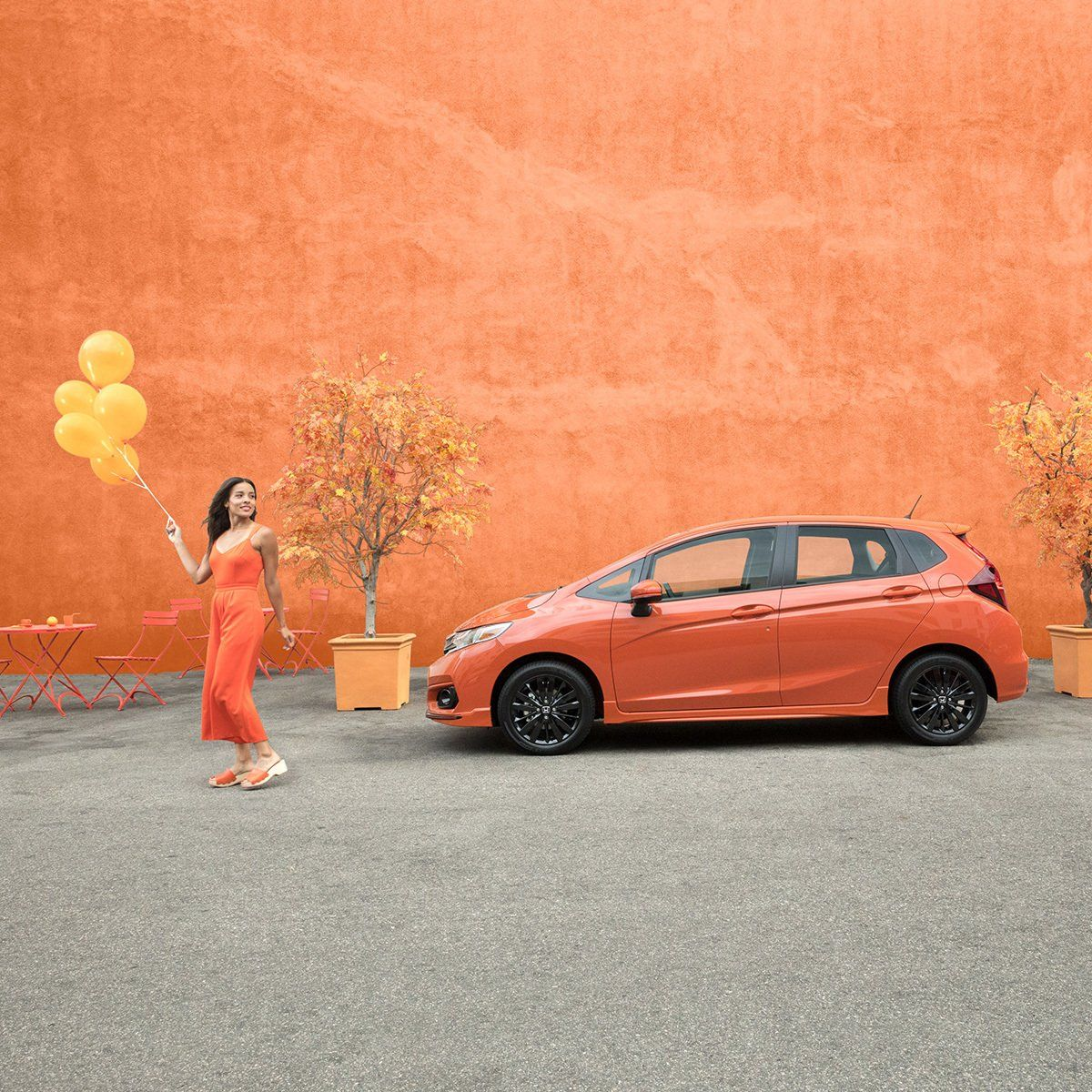 the orange fury hondafit sport is perfectly fun and isn t afraid to show it honda fit toy car fitness the orange fury hondafit sport is
