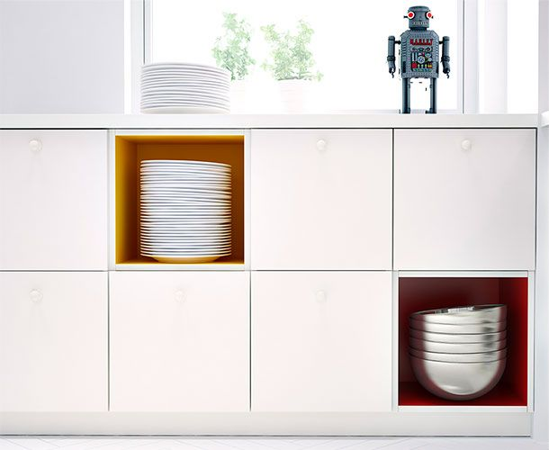 TUTEMO Regale setzen farbliche Akzente Craft room Pinterest - küchen hängeschrank ikea