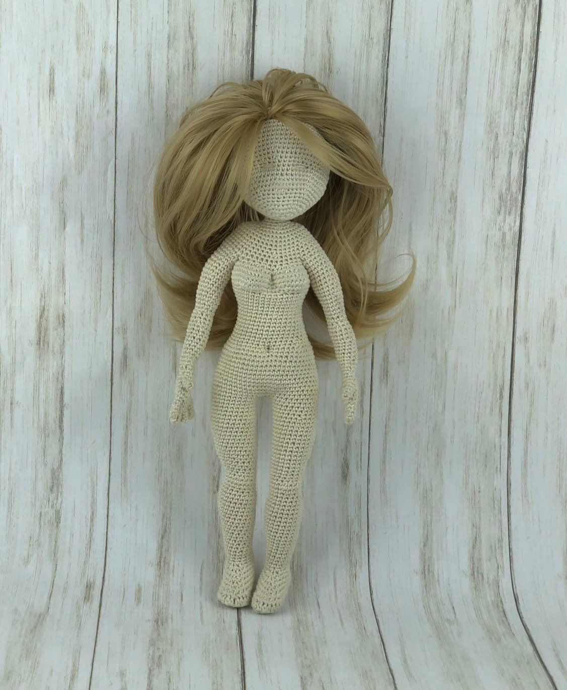 Realistic Crochet Doll Basic Body ( Video + pdf pattern) | Crochet ... | 1372x1126