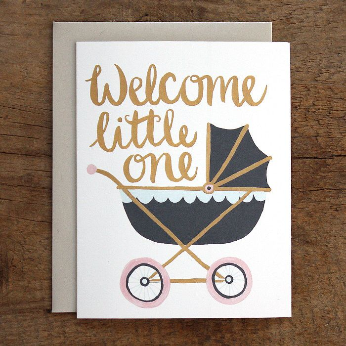 Welcome Little One Illustrated Card by 1canoe2 on Etsy https://www.etsy.com/listing/125024578/welcome-little-one-illustrated-card