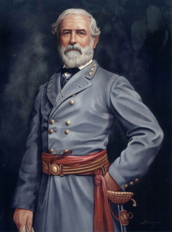 Confederate General Robert E Lee Standing In Camp Remastered Fine Art Print