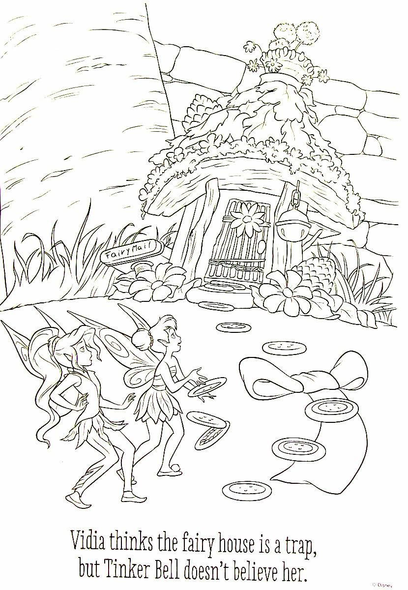 Disney Fairies And Tinkerbell Printable Coloring Book Page For Kids