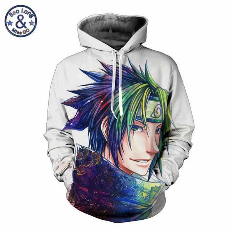 Naruto Uzumaki Hoodie Hokage Sweatshirt Uchiha Sasuke Pullover Jacket Free Ship