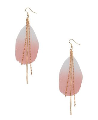 Blushing Feather Earrings
