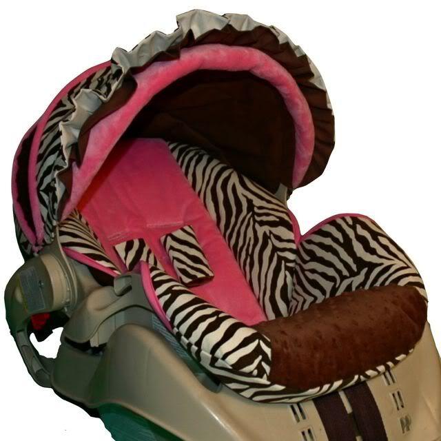 Girl car seat cover.